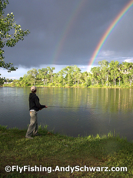 Rainbows at South Boulder Ponds